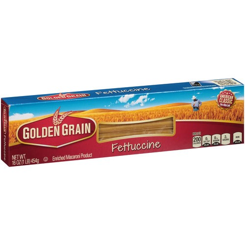 Golden Grain Long Fettuccine, 16 Oz
