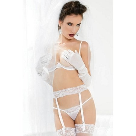 Coquette White Deadly Dame Bra Set 3707 White