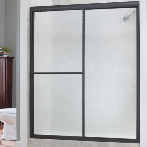 Hazelwood Home Chase 48'' x 70'' Single Sliding Framed Shower Door