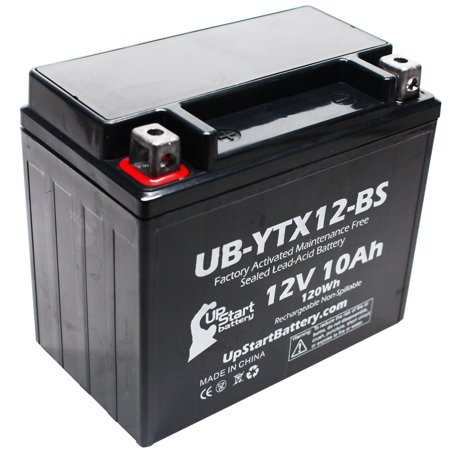 Replacement 1986 Honda TRX200SX FourTrax 200 CC Factory Activated, Maintenance Free, ATV Battery - 12V, 10Ah, UB-YTX12-BS