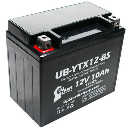 UpStart Battery Replacement 2003 Kawasaki ZZR600 600 CC Factory Activated, Maintenance Free, Motorcycle Battery - 12V, 10Ah, UB-YTX12-BS (Motorcycle Factory Kawasaki)