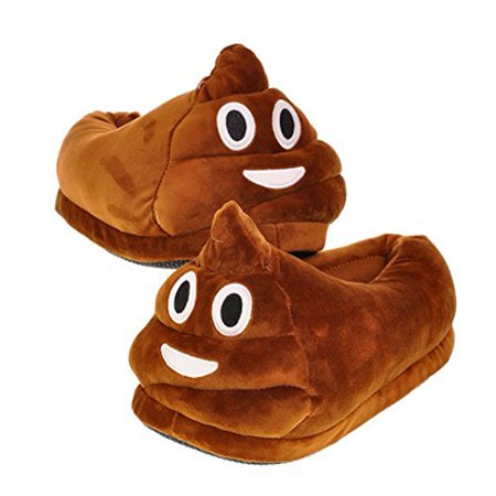 52ca4f81da74 Barry Owen Co. - Emoji Poop Slippers Panda Plush Cotton Slippers ...