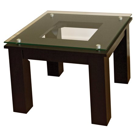 Plateau Collection 1 Light (The SL Series Modern Glass Top Accent Table Collection by)