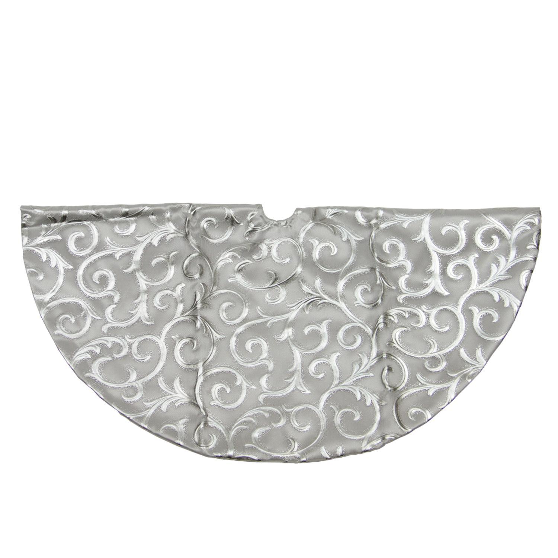 20 shiny silver flourish mini christmas tree skirt - Mini Christmas Tree Skirt