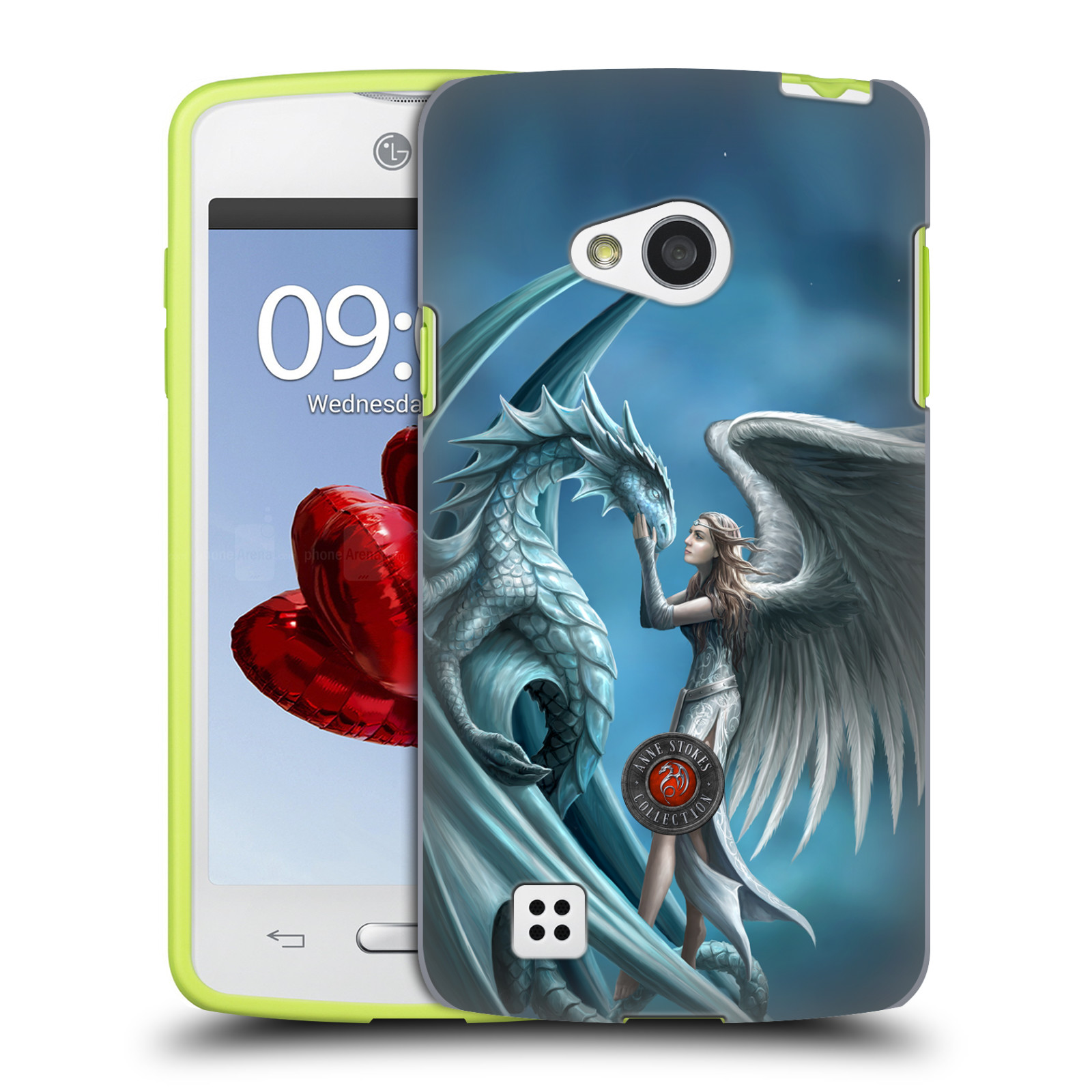 OFFICIAL ANNE STOKES DRAGON FRIENDSHIP HARD BACK CASE FOR LG PHONES 2