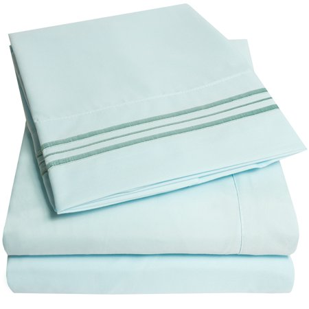 1800 Thread Count 4 Piece Deep Pocket Bedroom Bed Sheet Set ()