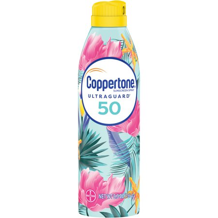 Coppertone Ultra Guard Sunscreen Continuous Spray SPF 50, 5.5 oz (packaging may vary)