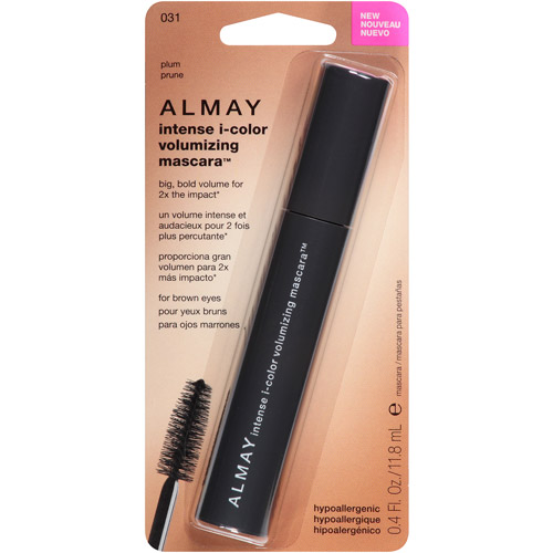 Almay Intense I-Color Volumizing Mascara, 031 Plum, 0.4 fl oz