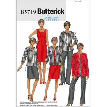 Butterick Pattern Misses And Womens Jacket  Dress  Skirt And Pants  Rr  18W  20W  22W  24W