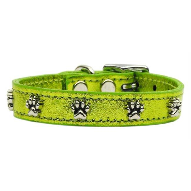 Mirage Pet Products 83-19 10LGM Metallic Paw Leather  Lime Green MTL 10