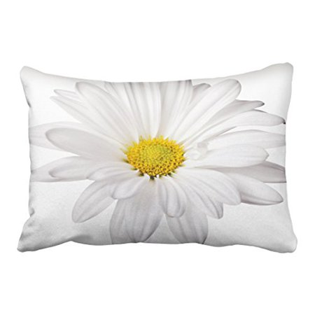 WinHome Decorative Decors White Daisy Flower Background Customized Daisies Pillow Case Cushion Cover Home Sofa Decorative Case Cushion Cover Home Sofa Decorative Size 20x30 inches