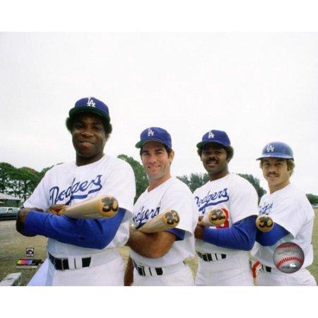 Dusty Baker  Steve Garvey Reggie Smith & Ron Cey 30 Home Run Club 1977 Photo Print