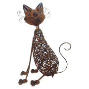 Kelkay Metal Art Cat Garden Statue