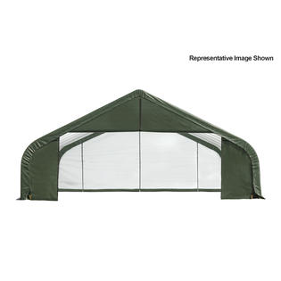 Peak Style Shelter 30x28x20 Steel Frame in Green Cover by