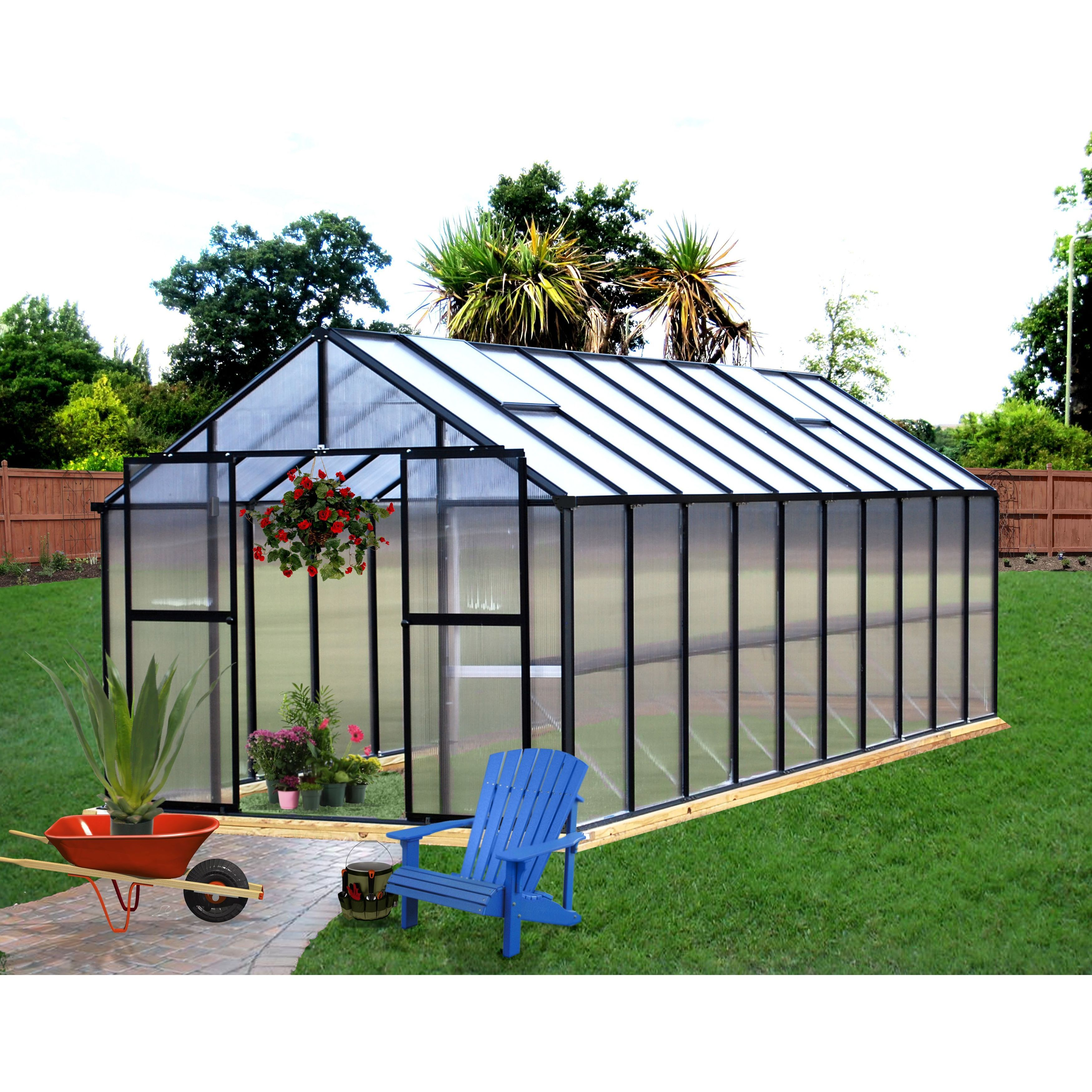 Riverstone Industries Monticello (8x20) Black Greenhouse