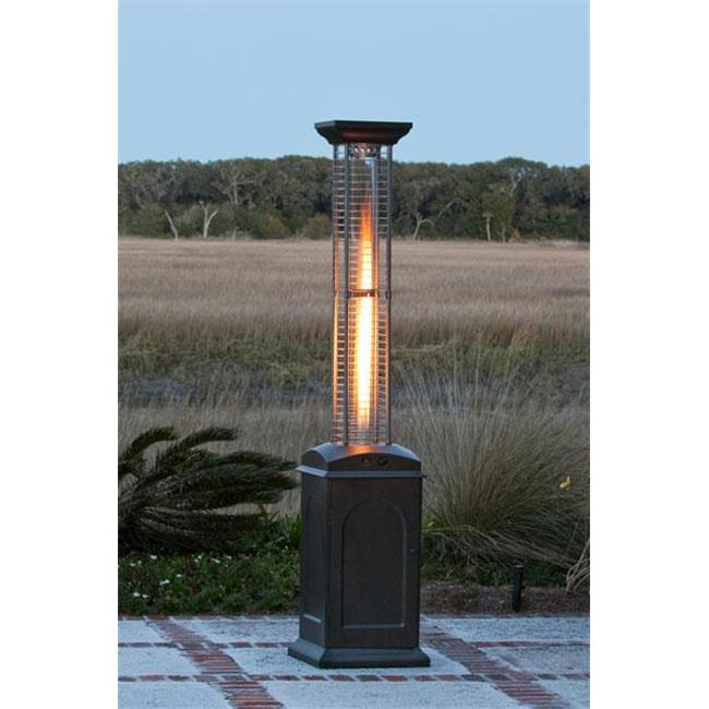 Fire Sense 60804 Mocha Finish Square Flame Heater