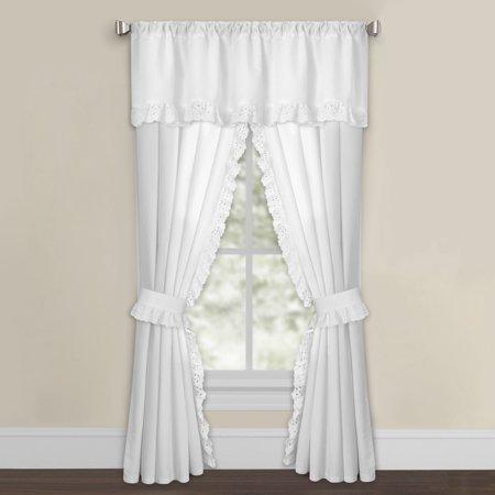 - Levinsohn Textile White Microfiber Eyelet Curtain Panel Pair
