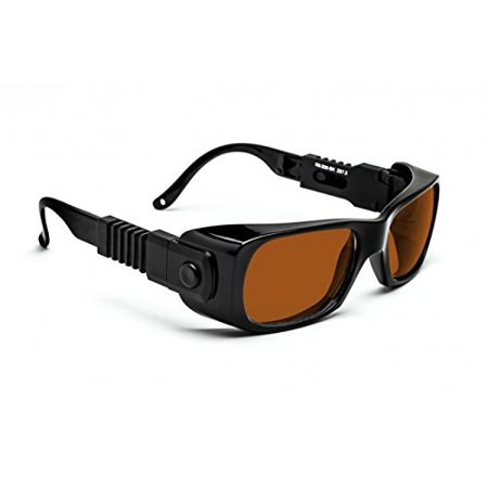 - Laser Safety Glasses - Argon, Ruby, Dode, Alexandrite, Yag and Co2 Filter - Black/yellow Plastic Frame - 50/33-19-142
