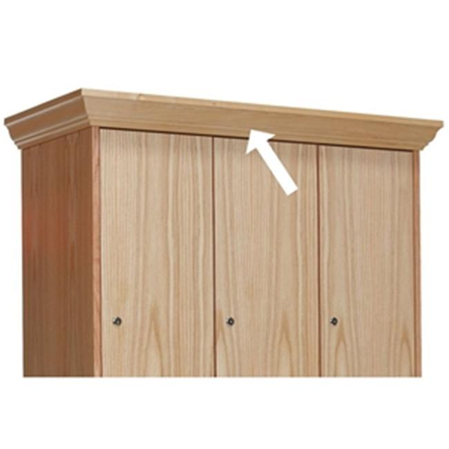 Hallowell WCM15W-RO Hallowell All-Wood Club Locker Crown Molding Top 36 inch W x 4 inch H Natural Red Oak with Clear