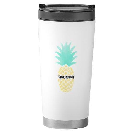 Beta Sigma Sorority - CafePress - Tau Beta Sigma Pineapple Sorority Mugs - Stainless Steel Travel Mug, Insulated 16 oz. Coffee Tumbler
