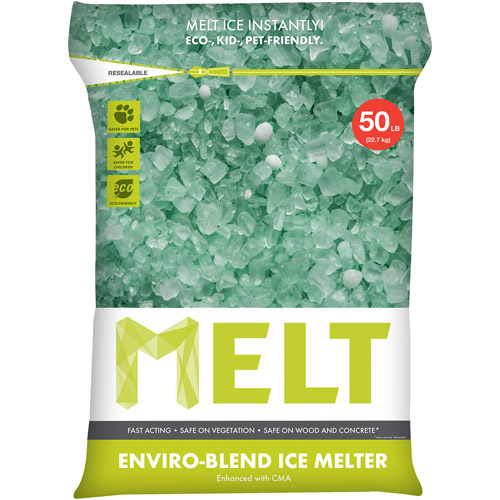 Snow Joe MELT Premium Enviro-Blend Ice Melter w/ CMA (50 lb. Resealable Bag) – MELT50EB