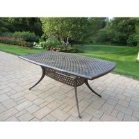 Oakland Living Stone Art Metal Dining Table