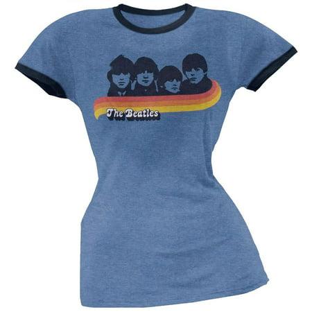The Beatles - Retro Photo Juniors Soft Ringer T-Shirt