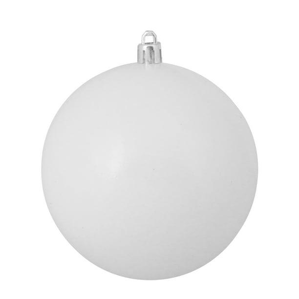 Winter White Shatterproof Shiny Christmas Ball Ornament 4 100mm Walmart Com Walmart Com