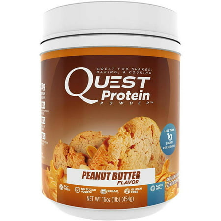 Quest Peanut Butter Flavor Protein Powder, 16 oz, (Pack of 1 ...