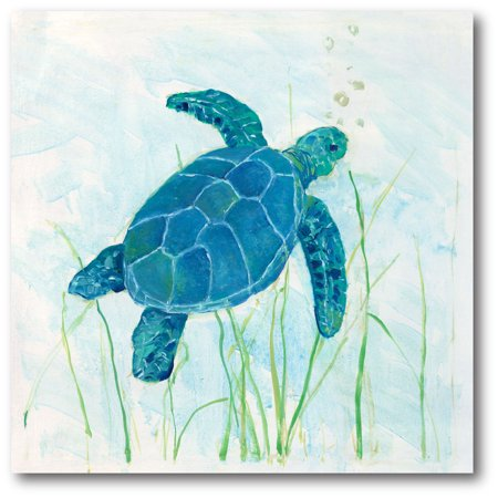 Courtside Market Reef Turtle I Gallery-Wrapped Canvas Wall Art, -