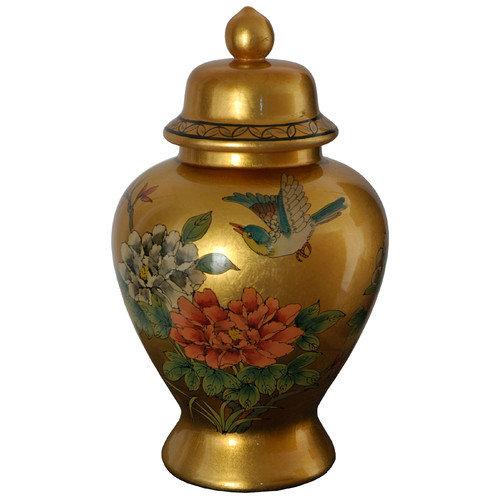 Oriental Furniture Temple Decorative Urn