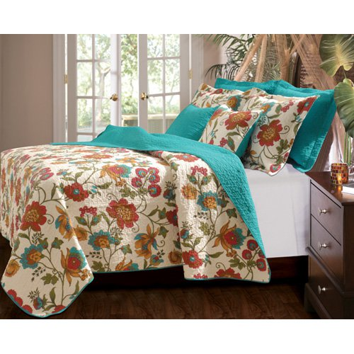Greenland Home Fashions Clearwater Reversible Quilt Set