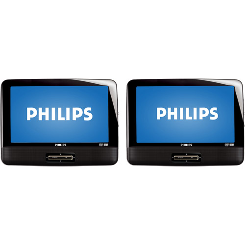 """Philips PD9016 9"""" Dual Screen Portable DVD Player with Dual DVD Players"""