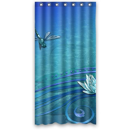 ganma dragonfly pattern shower curtain polyester fabric bathroom shower curtain 36x72 inches. Black Bedroom Furniture Sets. Home Design Ideas