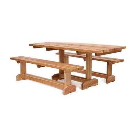 All Things Cedar Market Picnic Table Set Seats Walmartcom - Picnic table seats 8