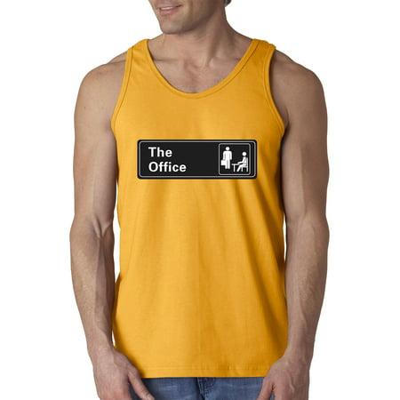 New Way 1155 - Men's Tank-Top The Office TV Show Desk Logo 3XL Gold