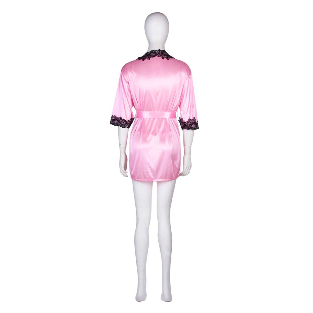 White Satin Style Robe Size 6 8 Nightrobe dressing gown robes bathrobe bathrobes