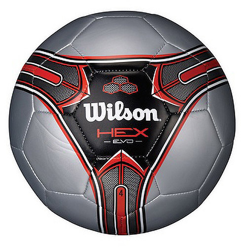 Wilson Hex Evo Soccer Ball, Red, Available in Multiple Sizes