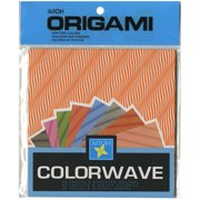 """Origami Paper 6""""X6"""" 40 Sheets-Colorwave"""