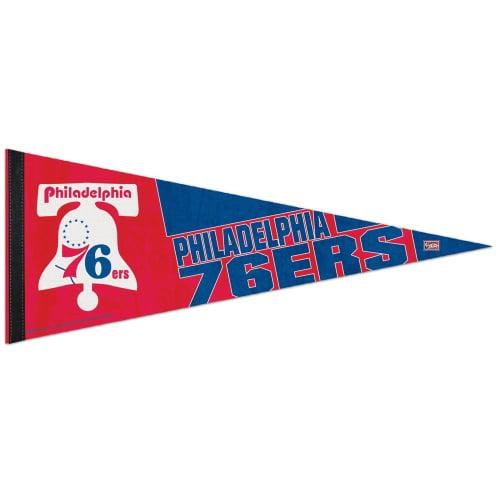 Philadelphia 76ers WinCraft Bell Logo 12 x 30 Premium Pennant - No Size