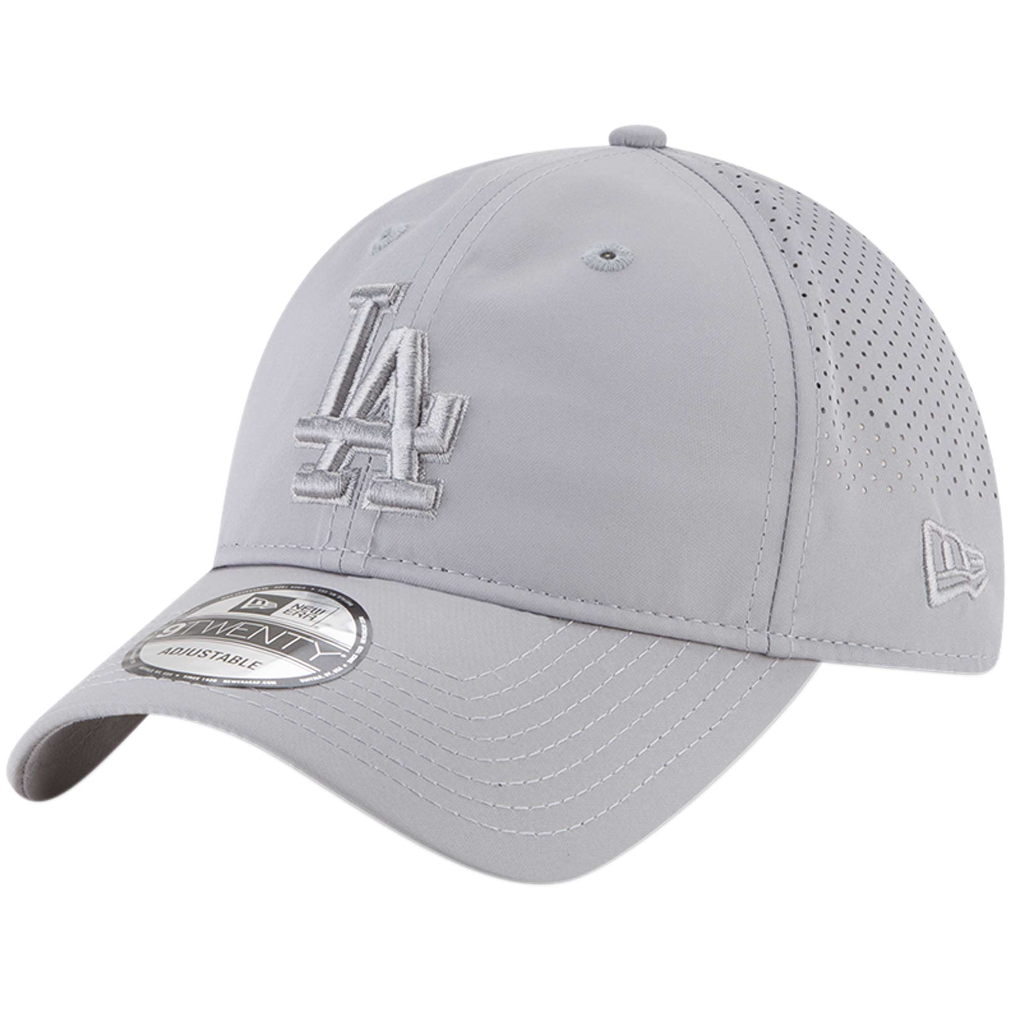 the best attitude 8b27a 9f14c spain adjustable la baseball cap 4afbd 9b610  get product image los angeles  dodgers new era perforated tone 9twenty adjustable hat gray osfa 32982