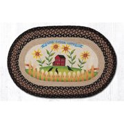 Capitol Importing 65-313LLL 20 x 30 in. Live Love Laugh Oval Patch Rug