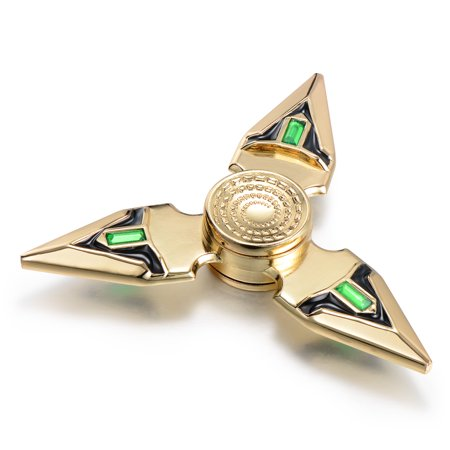 Peralng Edc Fidget Spinner Toy High Speed Stainless Steel Bearing Adhd Focus Anxiety Relief Toys Ultra Durable High Speed 3 5 Min Spins Zinc Alloy Materia Gold Color