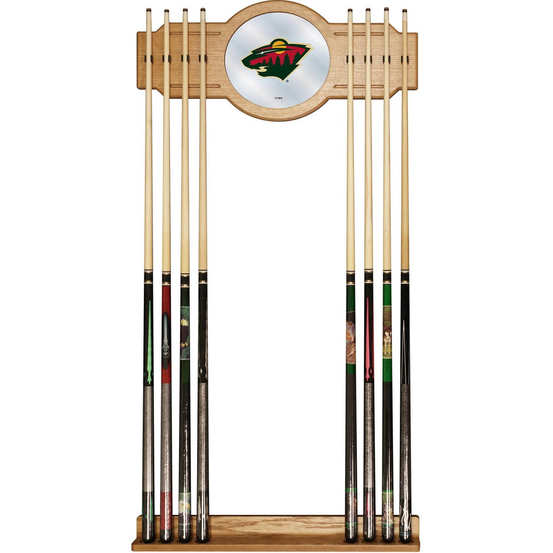 NHL Cue Rack with Mirror, Minnesota Wild