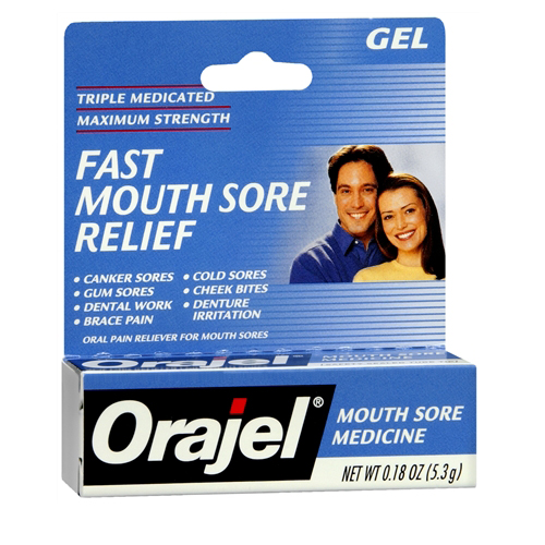 Orajel Mouth Sore Maximum Strength Medicine Gel - 0.18 Oz