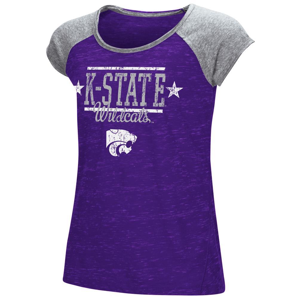Youth Girl's Sprints Short Sleeve Kansas State University Tee Shirt