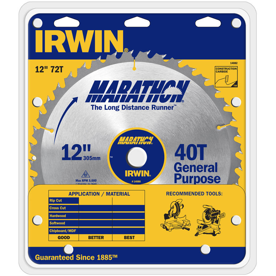 "Irwin Marathon 14082 12"" Marathon Miter and Table Saw Blades"
