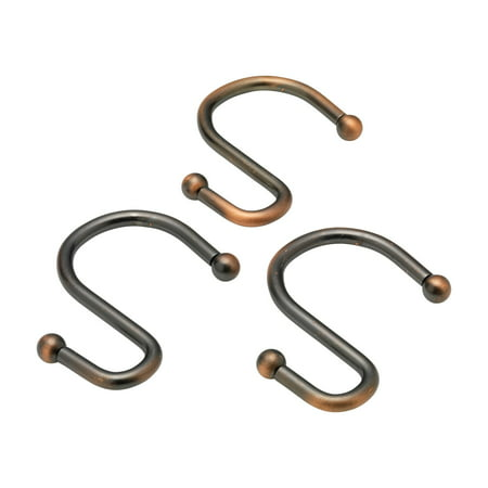 S Shower Curtain Hooks In Oil Rubbed Bronze