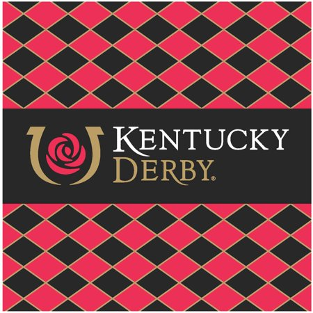Kentucky Derby 24-Pack Icon Beverage Napkins - No Size - Kentucky Derby Party Decorations