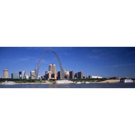 Skyline Gateway Arch St Louis MO USA Poster - Halloween Stores St Louis Mo